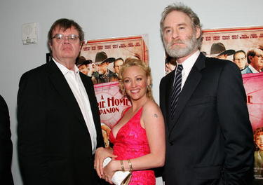Garrison Keillor, Virginia Madsen and Kevin Kline at the premiere of &quot;A Prairie Home Companion.&quot;